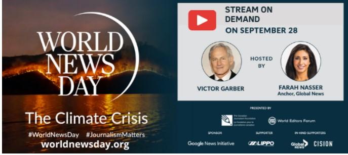 La crisis climática centrará el foco del World News Day 2021